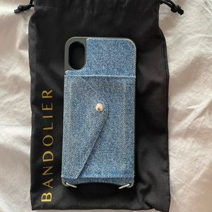 Bandolier Demin Wallet Case for iPhone X/XS